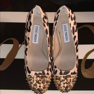 New Steve Madden leopard heels with studs